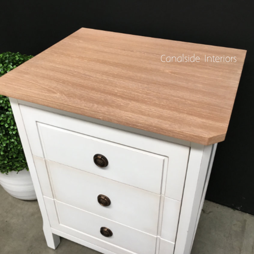 Beckett Bedside Distressed White with Limewash Top  BEDROOM, HAMPTONS Style, PLANTATION Style, TABLES Side Tables, LIVING Coffee & Side Tables, BEDROOM Bedsides