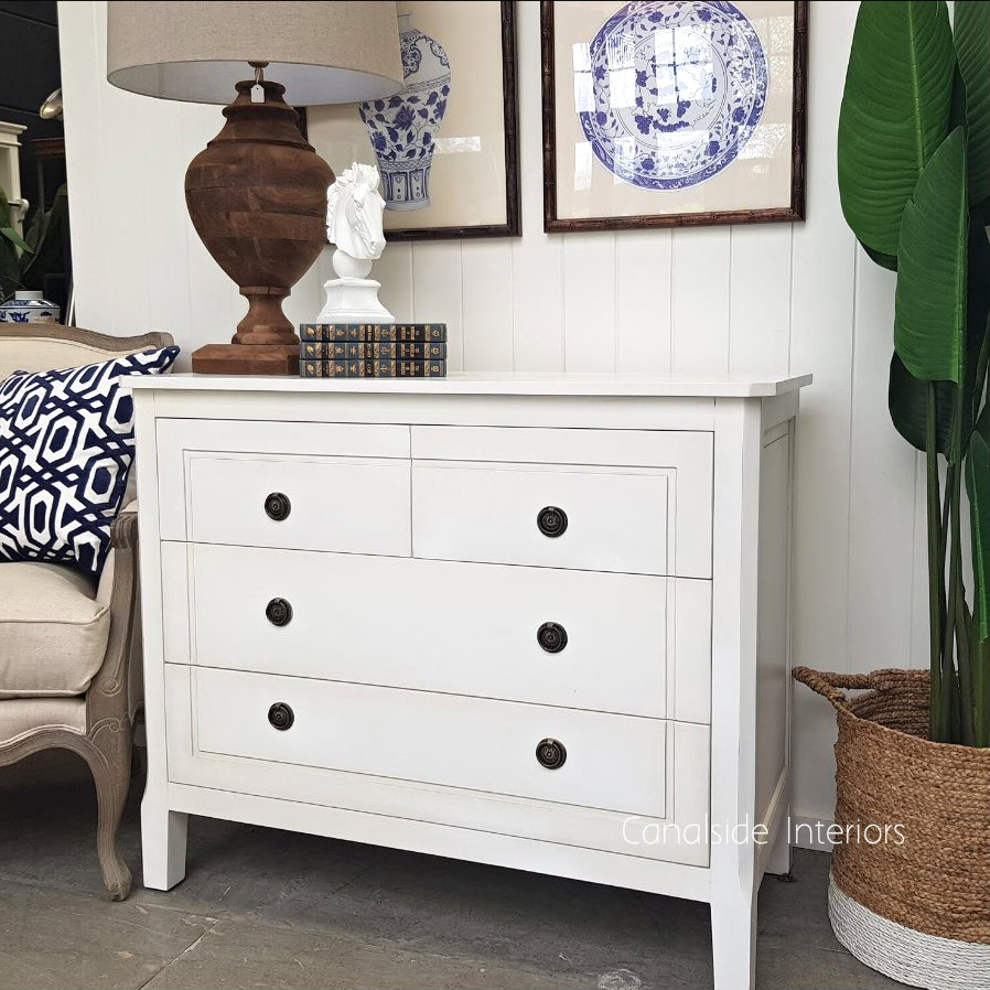 Beckett Chest of Drawers Distressed White  BEDROOM, HAMPTONS Style, PLANTATION Style, BEDROOM Chests & Commodes, TABLES Sideboards & Buffets, STORAGE, STORAGE Sideboards & Buffets
