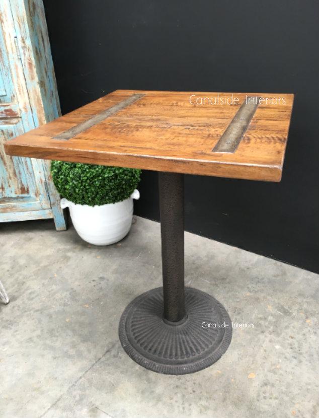 Railway Inlay Café Table Top