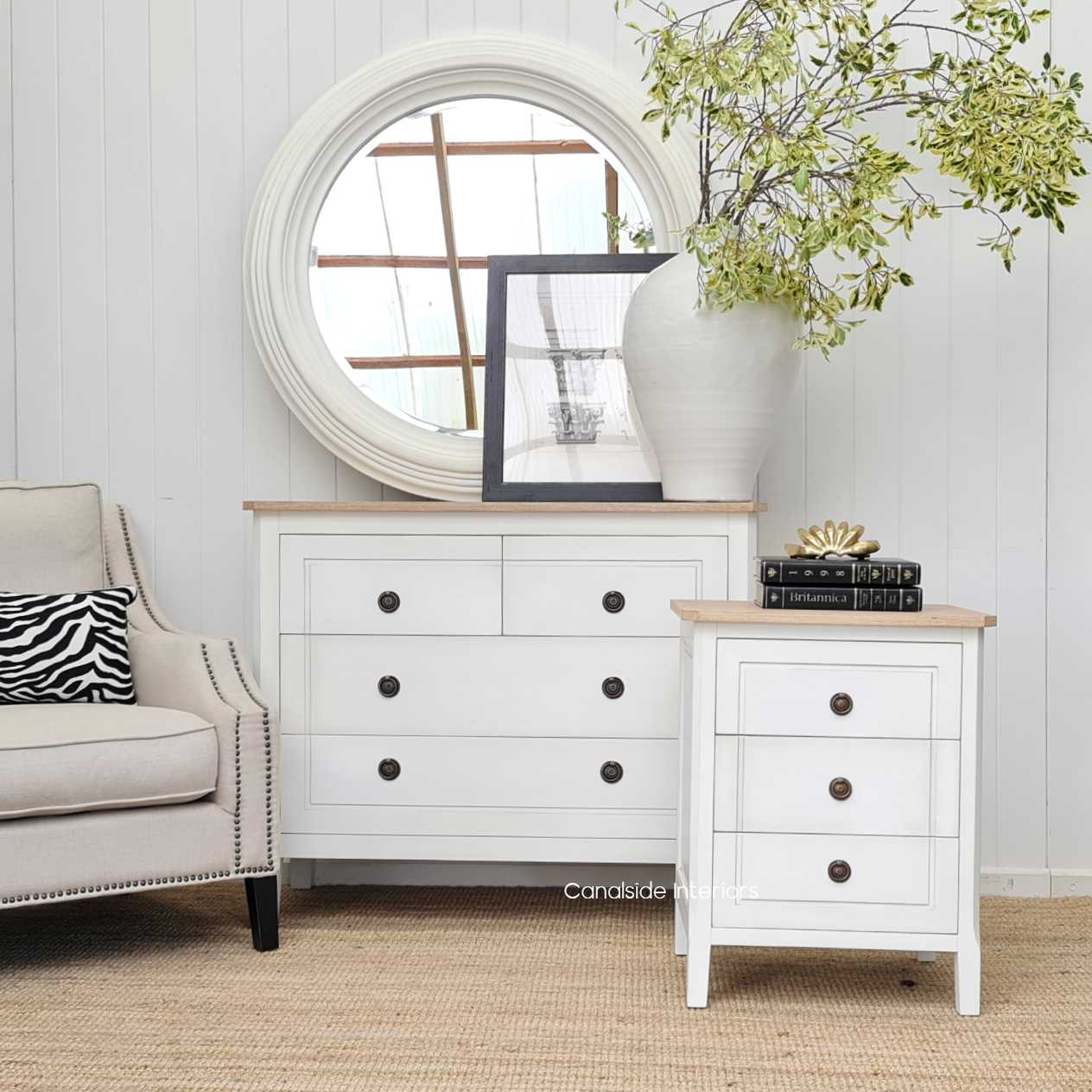 Beckett Chest of Drawers Distressed White Limewash Top  BEDROOM, HAMPTONS Style, PLANTATION Style, BEDROOM Chests & Commodes, TABLES Sideboards & Buffets, STORAGE, STORAGE Sideboards & Buffets