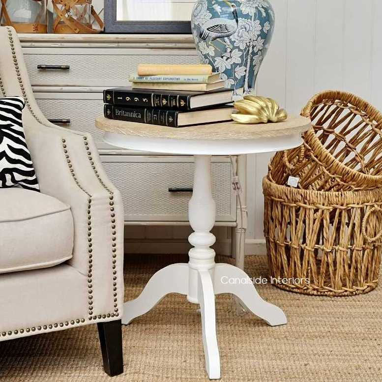 Candy Crushed Side Table Distressed White Limewash Top  FRENCH  FURNITURE, TABLES, HAMPTONS Style, PLANTATION Style, TABLES Side Tables, LIVING Room, LIVING Coffee & Side Tables, BEDROOM Bedsides