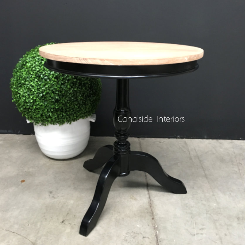 Candy Crushed Side Table Distressed Black Limewash Top  FRENCH  FURNITURE, TABLES, HAMPTONS Style, PLANTATION Style, TABLES Side Tables, LIVING Room, LIVING Coffee & Side Tables, BEDROOM Bedsides