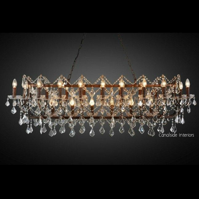 Rococo Rectangular Chandelier 150cm Large LIGHTING, LIGHTING Chandeliers & Pendants
