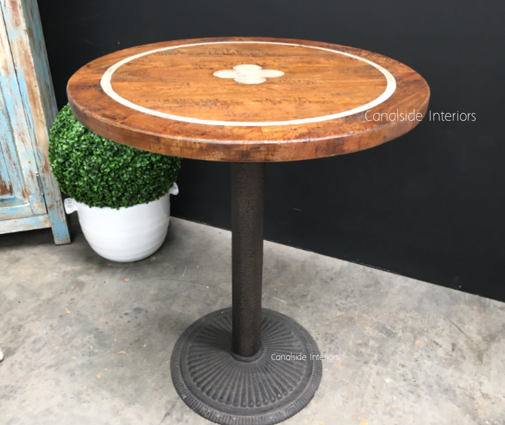Greenwich Inlay Round Café Table Top