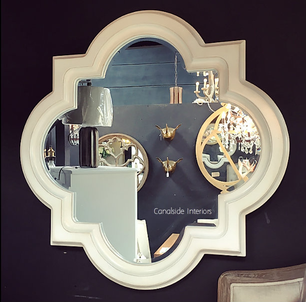 Cadence Mirror Distressed White 100cm MIRRORS