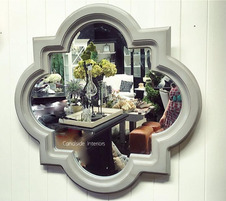 Cadence Mirror Distressed Grey 100cm MIRRORS