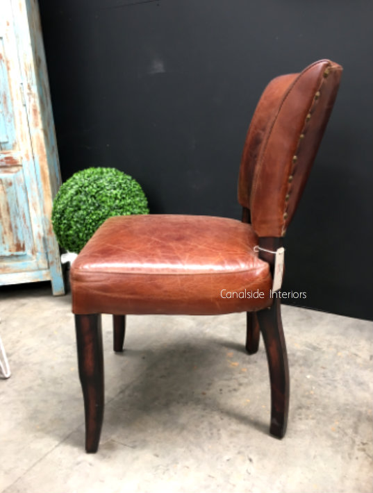 Cuba Aged Leather Dining Chair