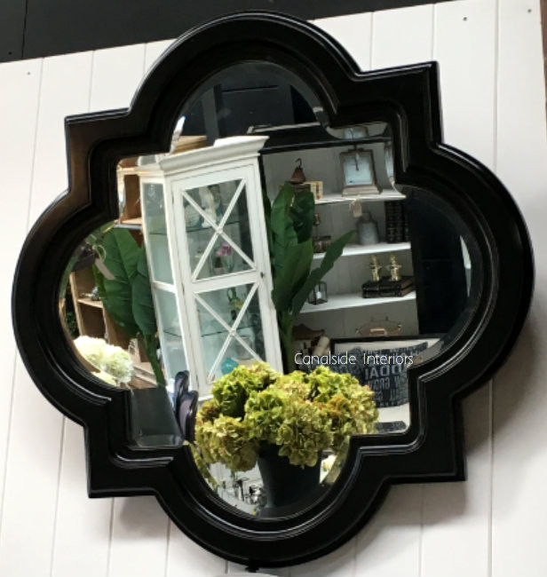 Cadence Mirror Distressed Black 80cm  MIRRORS