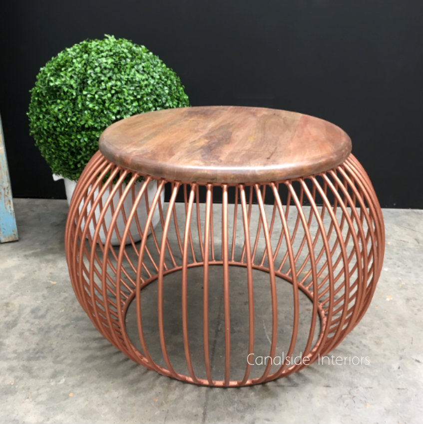 Cabana Coffee Table Distressed Copper  INDUSTRIAL RUSTIC Style, CAFE FURNITURE, TABLES, TABLES Coffee Tables, LIVING Room, LIVING Coffee & Side Tables, CAFE FURNITURE Table Tops & Tables, CAFE FURNITURE Stools & Chairs, PLANTATION STYLE