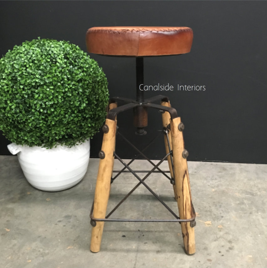 Crutch Adjustable Stool  INDUSTRIAL RUSTIC Style, CHAIRS, CAFE FURNITURE, CHAIRS Stools, CAFE FURNITURE Stools & Chairs