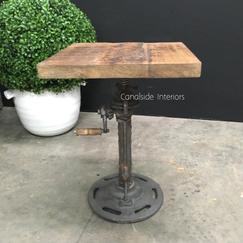 Crank Adjustable Side Table
