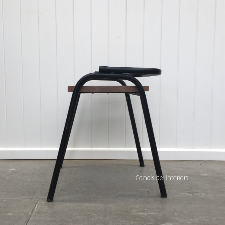 Chairlette Distressed Black  INDUSTRIAL RUSTIC Style, CHAIRS, CAFE FURNITURE, CHAIRS Dining, CHAIRS Stools, CAFE FURNITURE Stools & Chairs