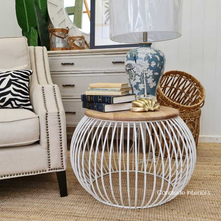 Cabana Coffee Table Distressed White  INDUSTRIAL RUSTIC Style, CAFE FURNITURE, TABLES, TABLES Coffee Tables, LIVING Room, LIVING Coffee & Side Tables, CAFE FURNITURE Table Tops & Tables, CAFE FURNITURE Stools & Chairs, PLANTATION STYLE