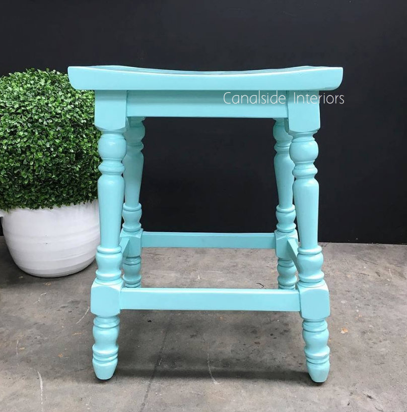 Curacao Stool Distressed AquaTeal  INDUSTRIAL RUSTIC Style, CHAIRS, CAFE FURNITURE, CHAIRS Stools, CAFE FURNITURE Stools & Chairs, PLANTATION STYLE