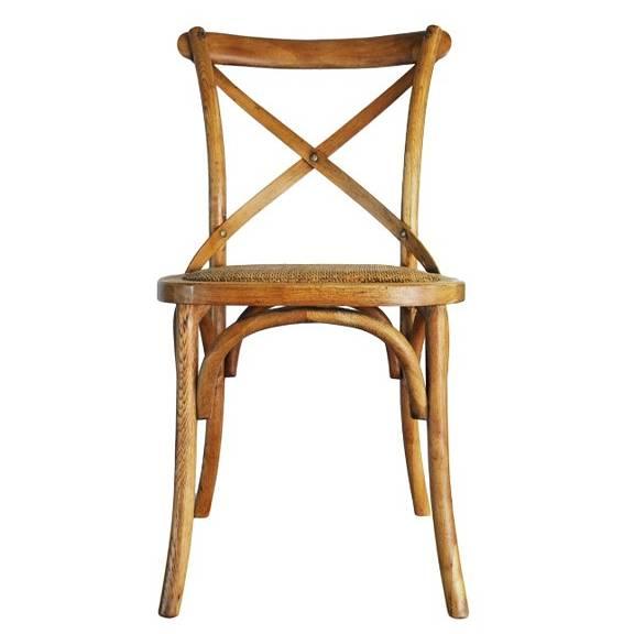 Cross Back Chair - French Oak