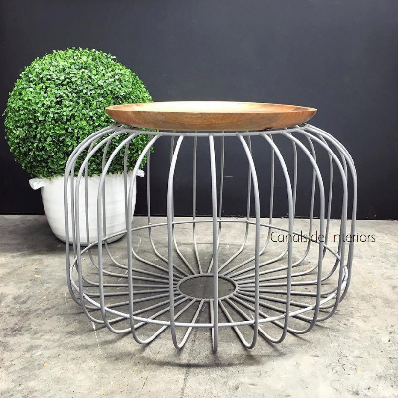 Carousel Coffee Side Table Grey INDUSTRIAL RUSTIC Style, CAFE FURNITURE, TABLES, TABLES Coffee Tables, TABLES Side Tables, LIVING Room, LIVING Coffee & Side Tables, CAFE FURNITURE Table Tops & Tables