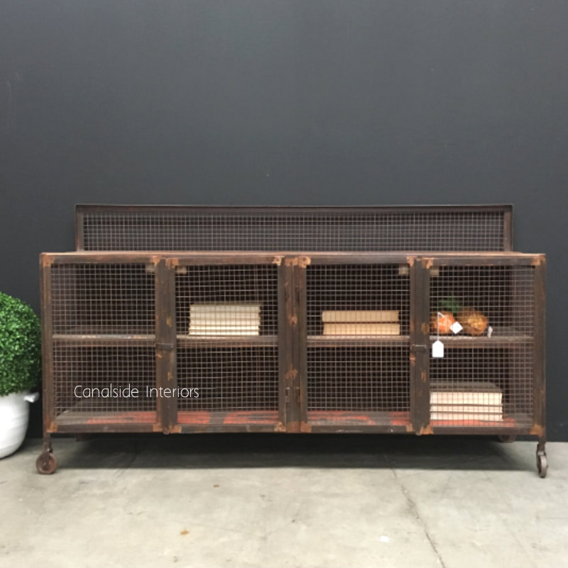 Lothbrok Industrial Mesh TV Unit / Sideboard