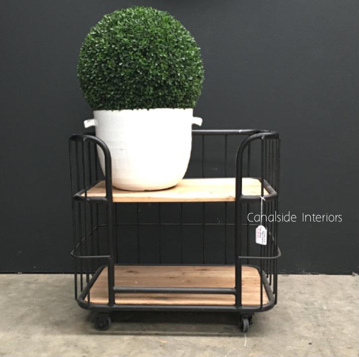 Caged Baker's Side Table / Bedside
