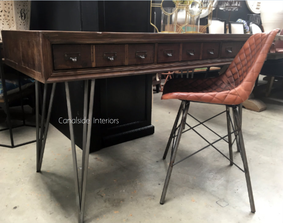 Apothecary Desk  INDUSTRIAL RUSTIC Style, TABLES, STORAGE Consoles & Desks, PLANTATION STYLE