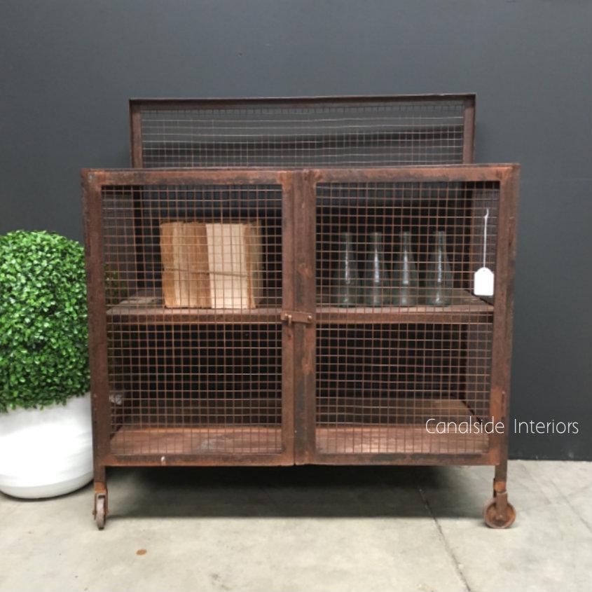 Lothbrok Industrial Mesh TV Unit / Sideboard - Small