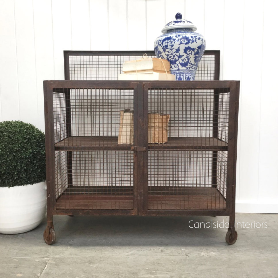 Lothbrok Mesh Industrial TV Unit Sideboard Small