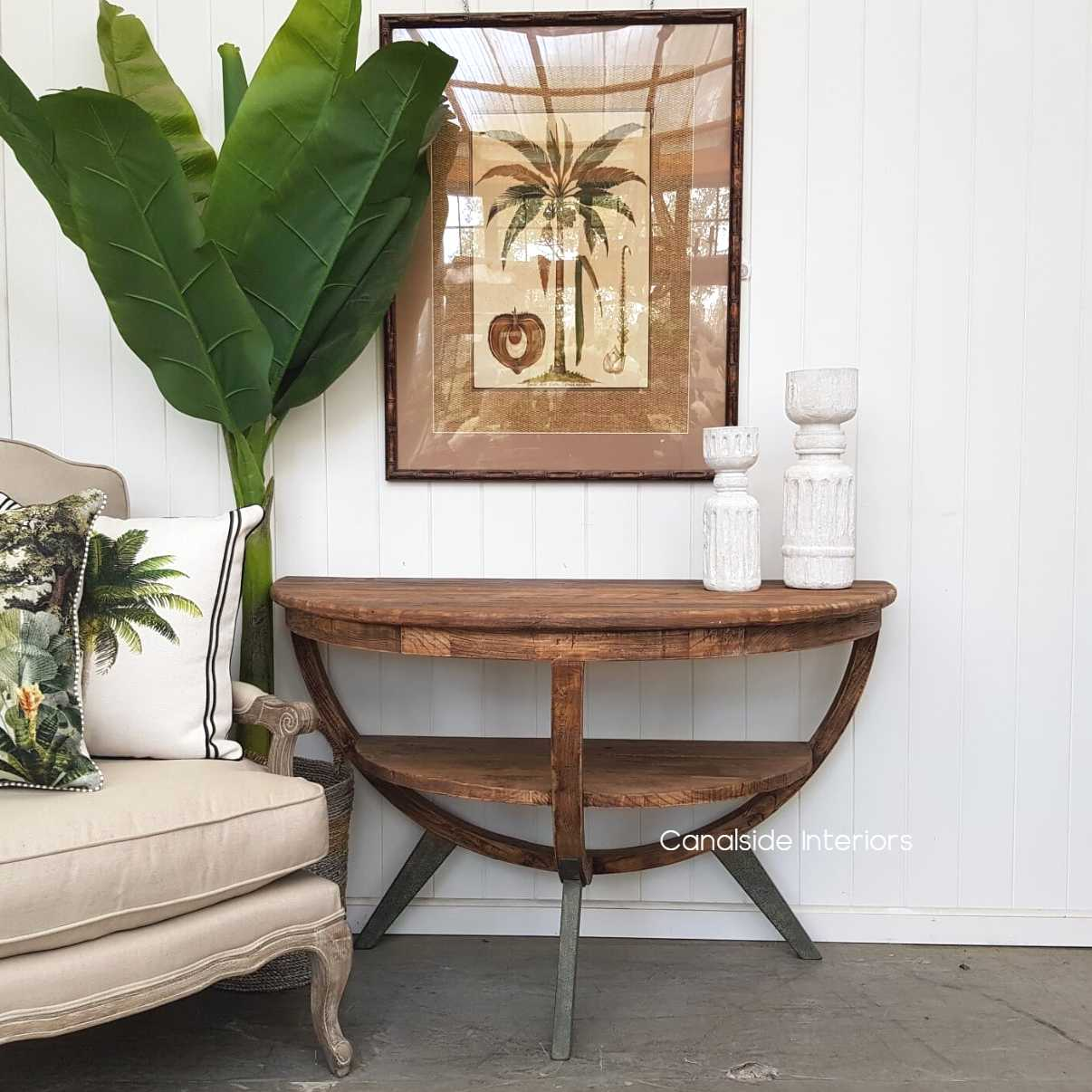 Lunar Wall Console Table
