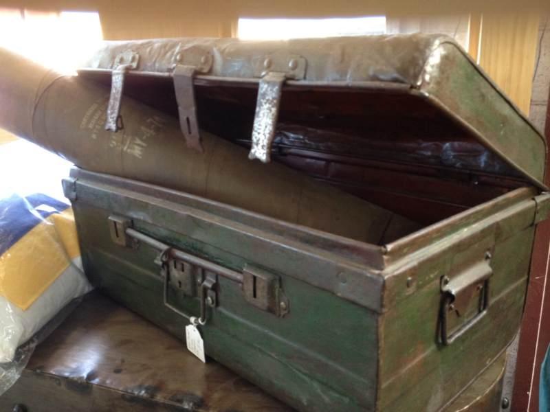 Old Metal Industrial Suitcases / Trunks
