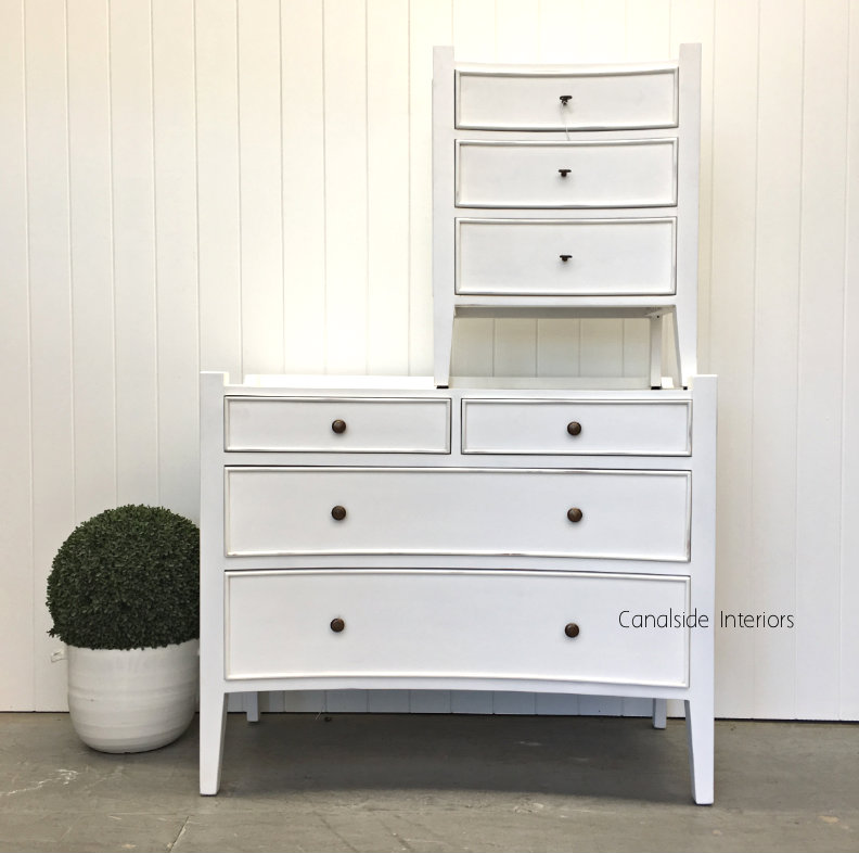 Arc 4 Drawer Chest White BEDROOM, BEDROOM Chests & Commodes