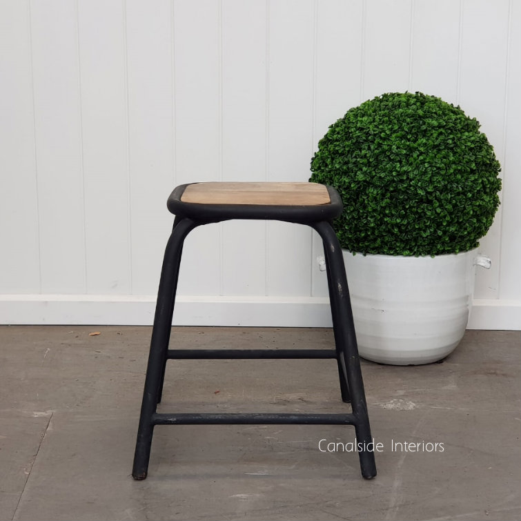 Elementary Dining Height Stool Distressed Black  INDUSTRIAL RUSTIC Style, CHAIRS, CAFE FURNITURE, CHAIRS Stools, CAFE FURNITURE Stools & Chairs