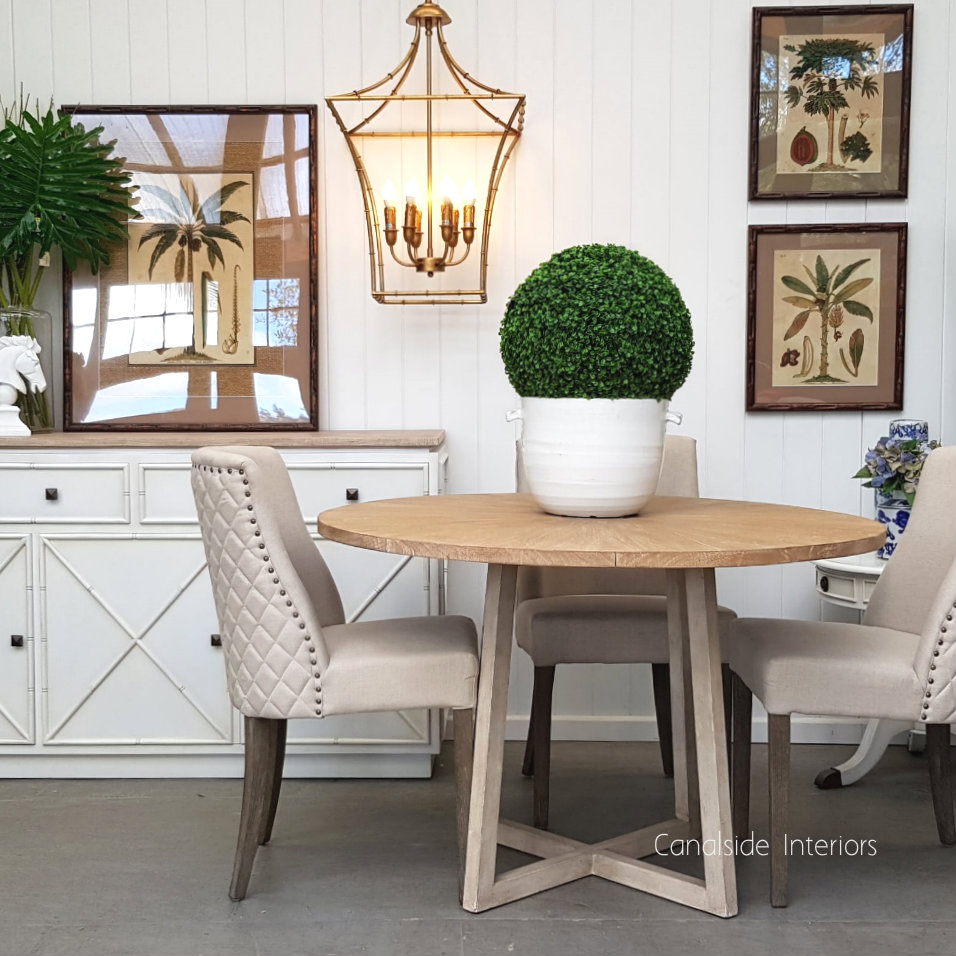 Downing Round Dining Table with Mosaic Top