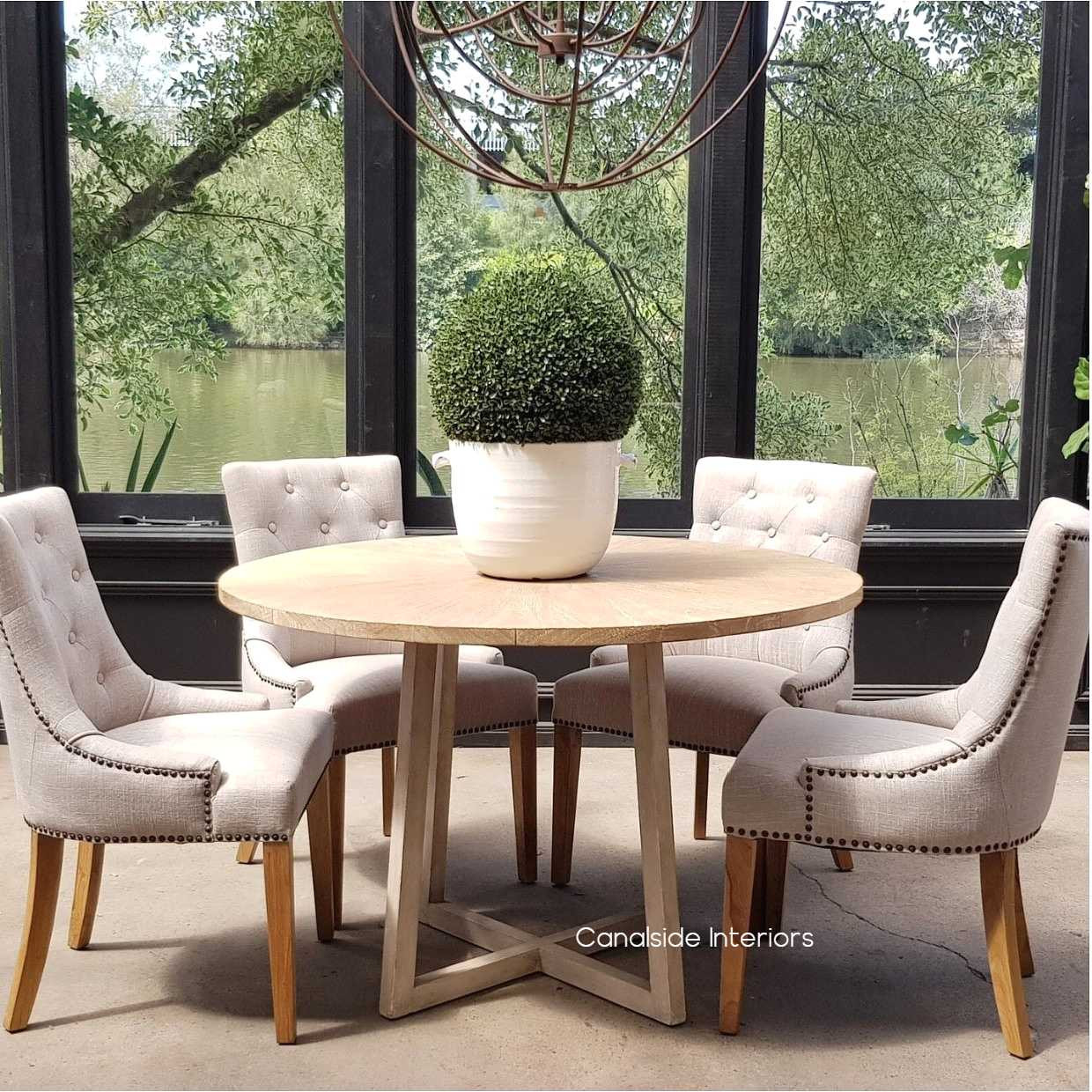 Downing Round Dining Table with Mosaic Top Canalside Interiors