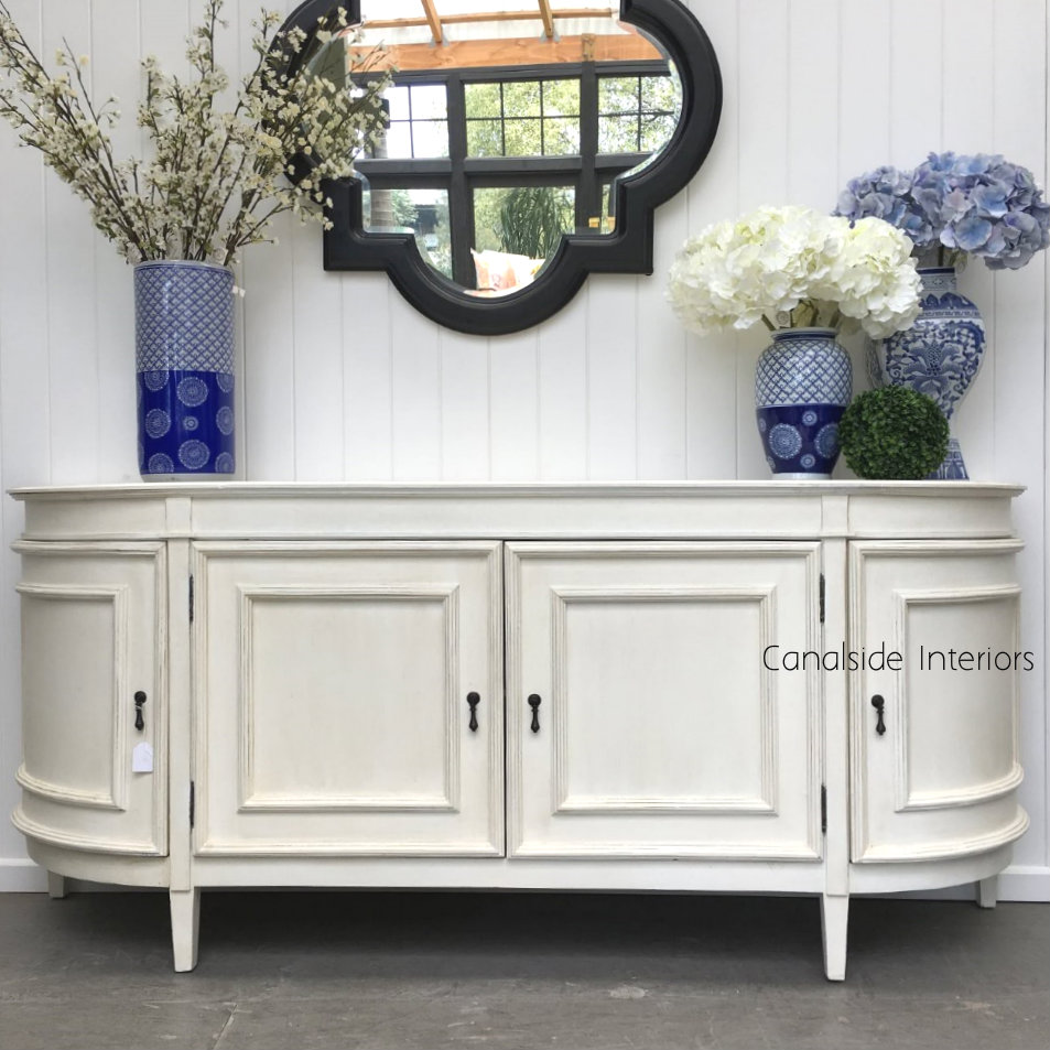 Francia Sideboard Distressed Off White  FRENCH  FURNITURE, HAMPTONS Style, PLANTATION Style, LIVING TV Media & Storage, TABLES Sideboards & Buffets, STORAGE, STORAGE Sideboards & Buffets