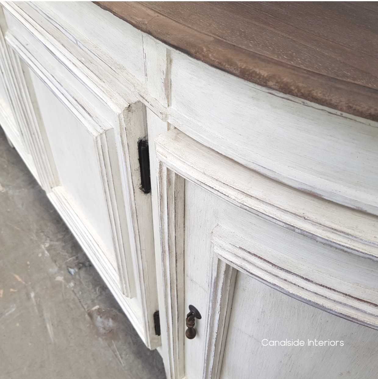 Francia Sideboard Distressed StoneWeathered Oak  FRENCH  FURNITURE, HAMPTONS Style, PLANTATION Style, LIVING TV Media & Storage, TABLES Sideboards & Buffets, STORAGE, STORAGE Sideboards & Buffets