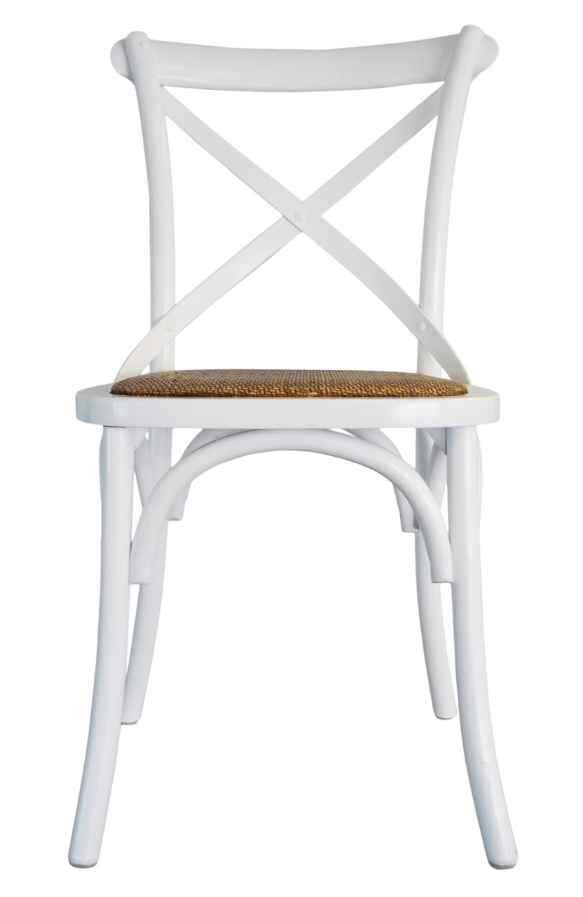 Cross Back Chair White  Dining, CHAIRS, CAFE FURNITURE, HAMPTONS Style, PLANTATION Style, CHAIRS Dining, CAFE FURNITURE Stools & Chairs