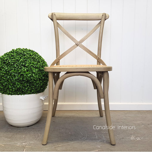 Cross Back Chair Distressed Greywash  Dining, CHAIRS, CAFE FURNITURE, HAMPTONS Style, PLANTATION Style, CHAIRS Dining, CAFE FURNITURE Stools & Chairs