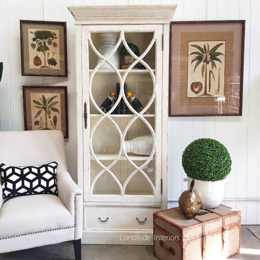 Farrow Display Unit Distressed Off White  FRENCH  FURNITURE, HAMPTONS Style, PLANTATION Style, LIVING Room, LIVING Cupboards & Bookcases, STORAGE, STORAGE Bookshelves & Cupboards