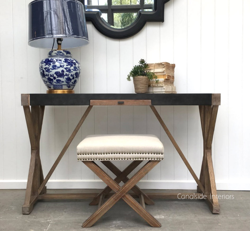 Loxley Desk Console  INDUSTRIAL RUSTIC Style, TABLES, HAMPTONS Style, PLANTATION Style, STORAGE Consoles & Desks, TABLES Sideboards & Buffets, STORAGE