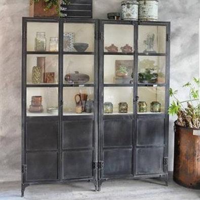 Foundry Almira 2 Door Metal Cupboard  Image via @yvonne_kwakkel  |  2 pictured side by side in this image.