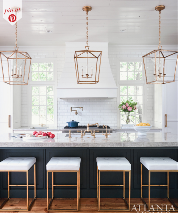 Get The Look: Inspiration Image via atlantahomesmag.com on Pinterest *English Openwork Lantern may vary to inspiration image
