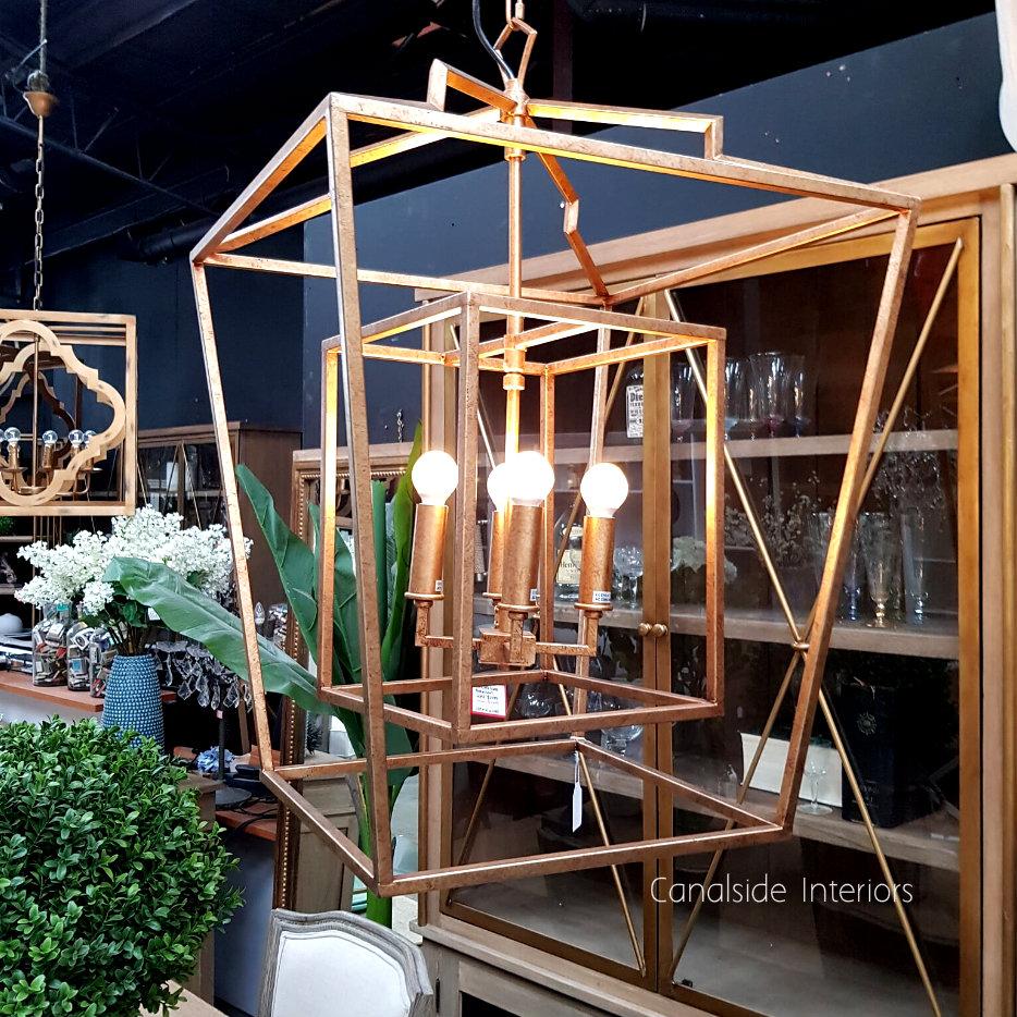 English Openwork Lantern 75cm  LIGHTING, LIGHTING Chandeliers & Pendants