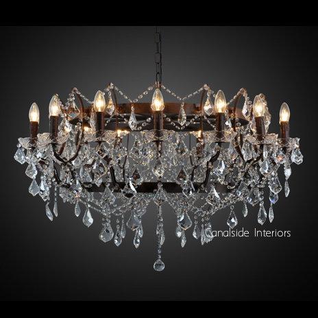 19th Rococo Round Chandelier 103cm Large  LIGHTING, LIGHTING Chandeliers & Pendants