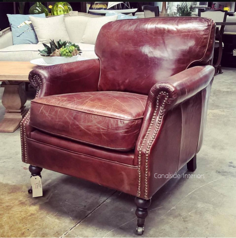 Newport Aged Leather Armchair TV, Lounge & Entertainment, CHAIRS, AGED LEATHER, CHAIRS Lounge, LIVING Room, LIVING Chairs, CAFE FURNITURE Stools & Chairs
