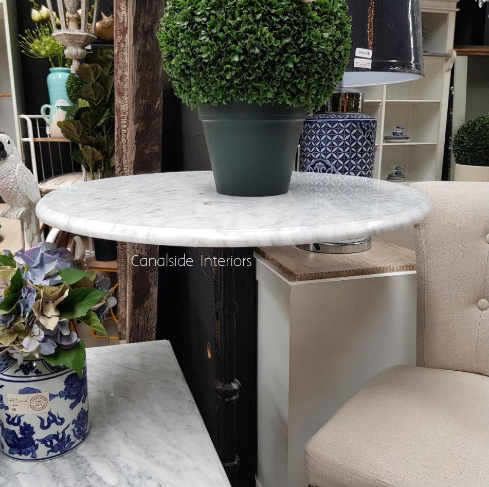 Cafe Table Top Carrara Marble Round CAFE FURNITURE, CAFE FURNITURE Table Tops & Tables