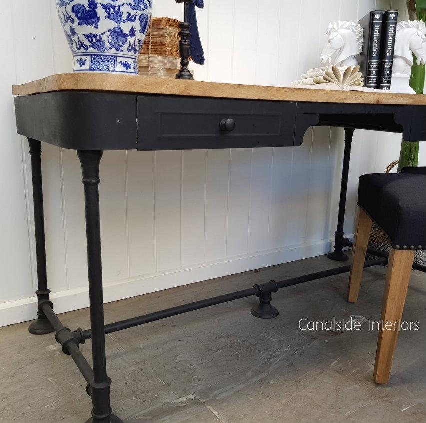 Commissioner II Industrial Desk  INDUSTRIAL RUSTIC Style, STORAGE Consoles & Desks