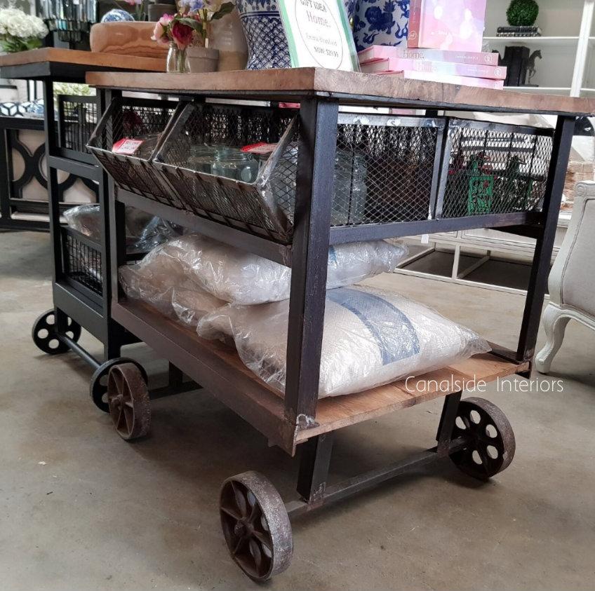 Tutti Booty Industrial Island Workbench / Cart