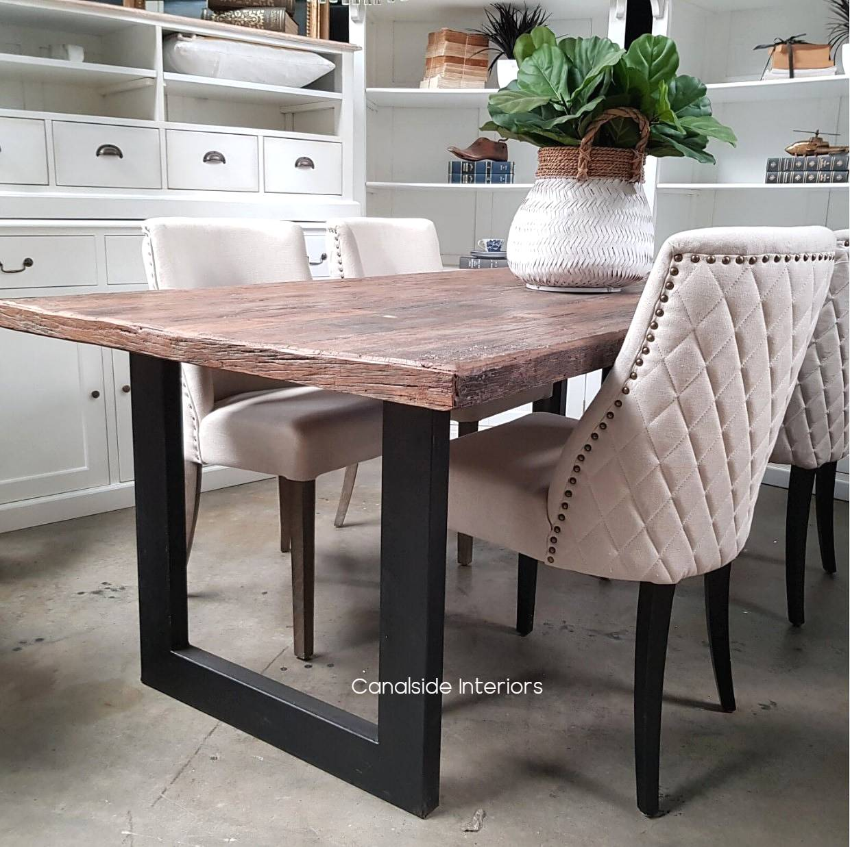 Washington Dining Table with Reclaimed Wood Top  INDUSTRIAL RUSTIC Style, CAFE FURNITURE, TABLES, TABLES Dining Tables, CAFE FURNITURE Table Tops & Tables