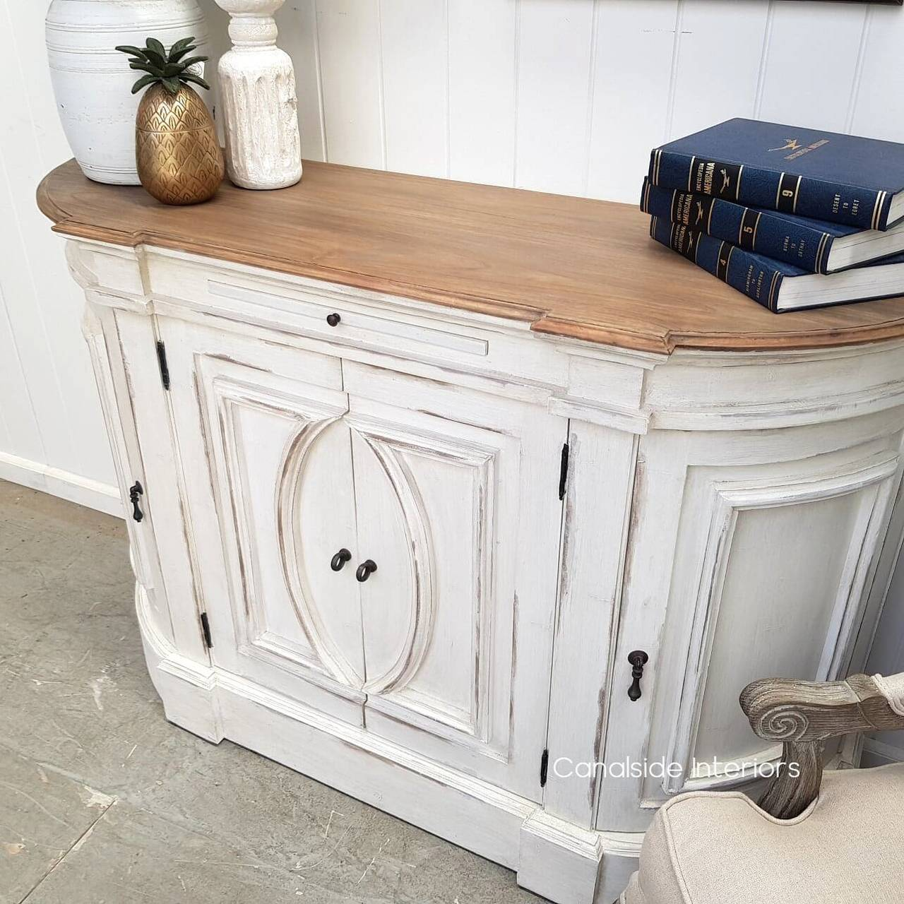 Bastian Small Sideboard Distressed StoneWeathered Oak  FRENCH  FURNITURE, HAMPTONS Style, PLANTATION Style, LIVING Room, LIVING TV Media & Storage, TABLES Sideboards & Buffets, STORAGE, STORAGE Sideboards & Buffets