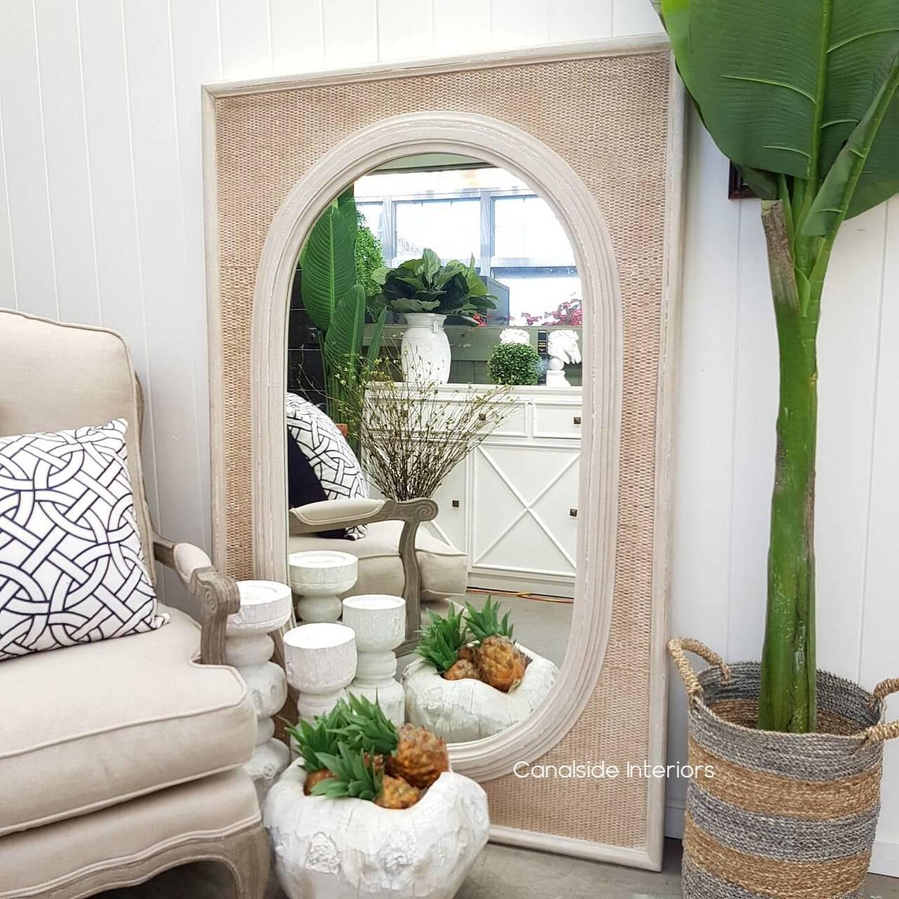 Brielle Ovalis Rattan Mirror