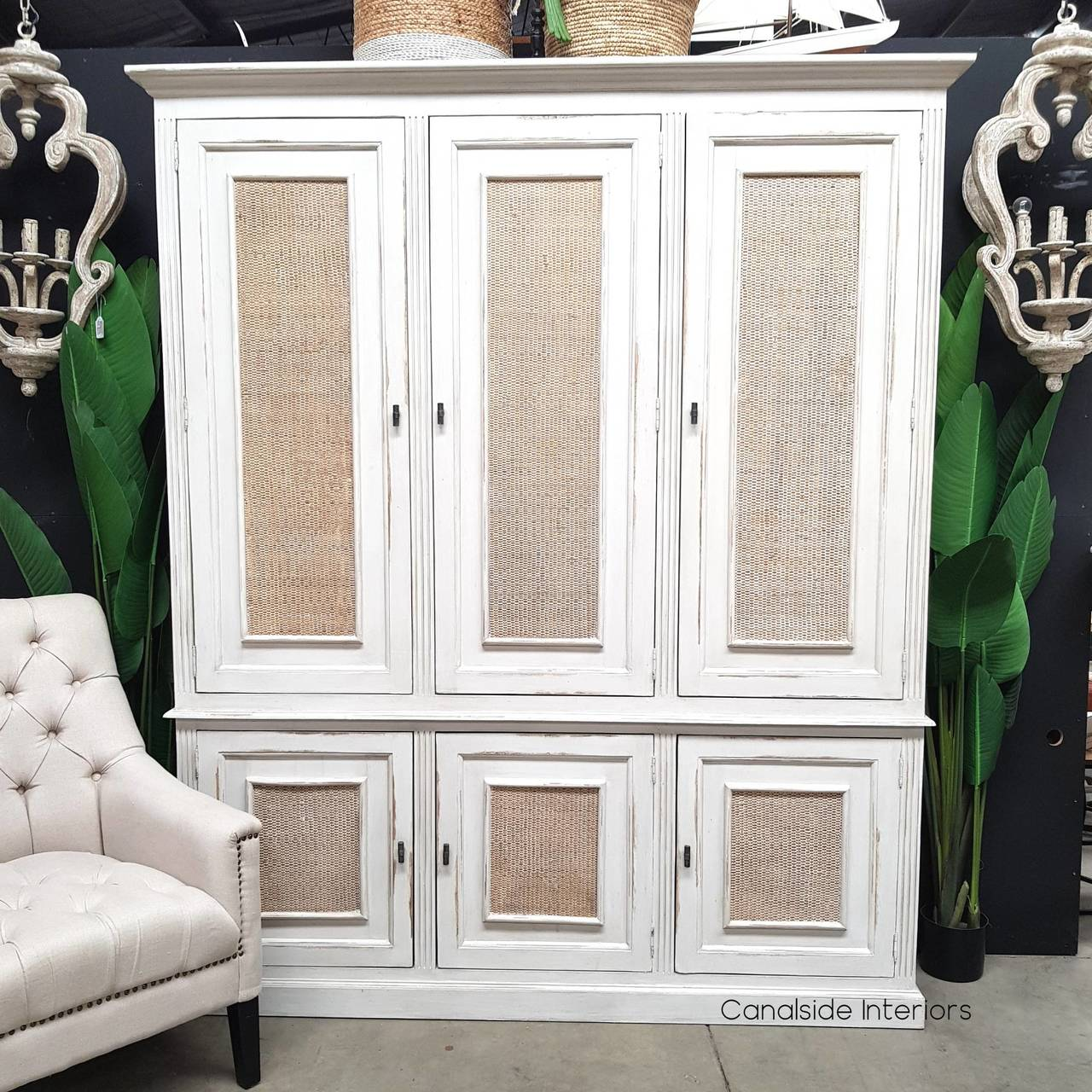 Brielle Rattan Storage Cupboard  HAMPTONS Style, PLANTATION Style, LIVING Room, LIVING Cupboards & Bookcases, STORAGE, STORAGE Bookshelves & Cupboards, PLANTATION STYLE