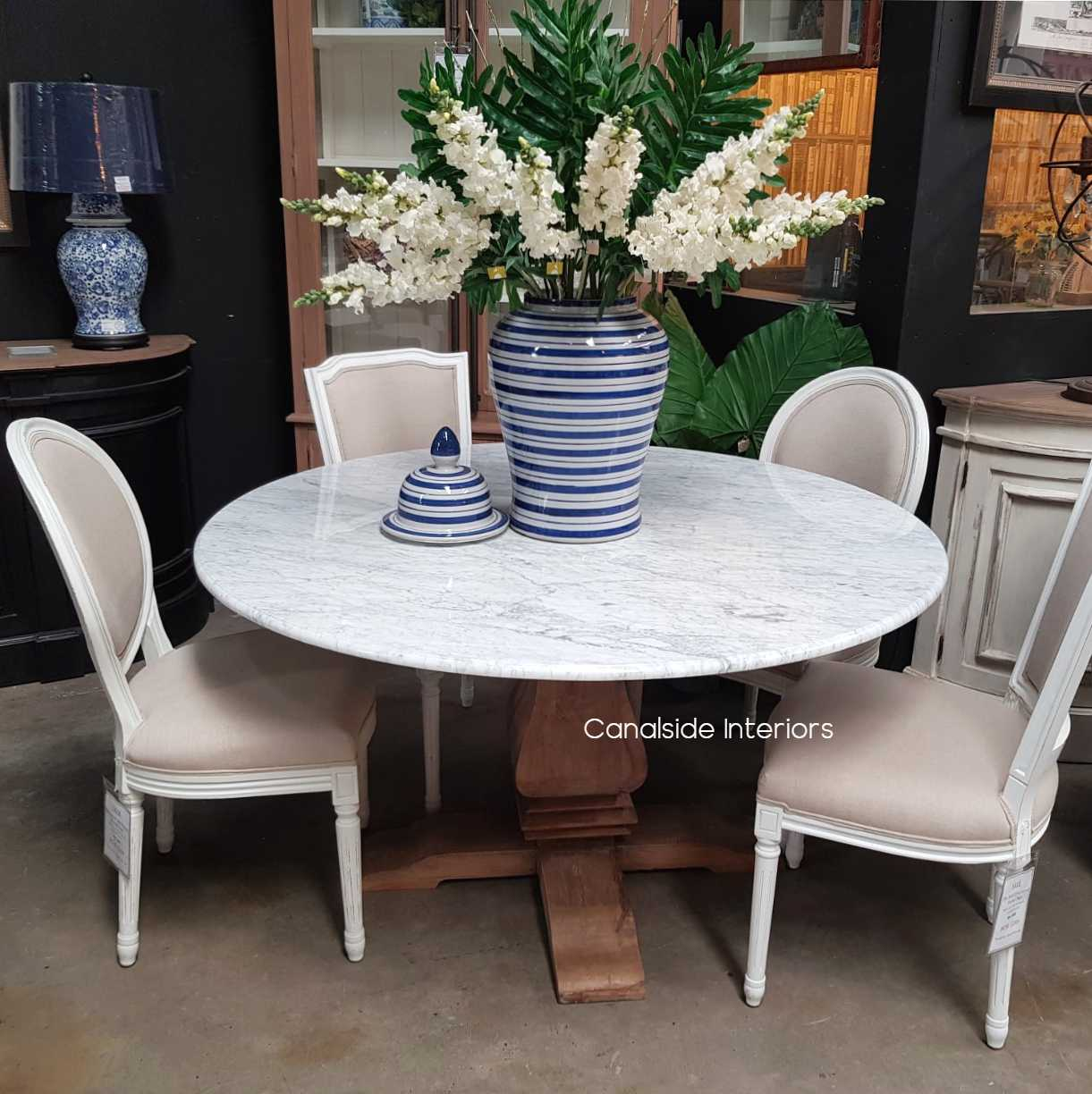 Artisan Round Marble Dining Table